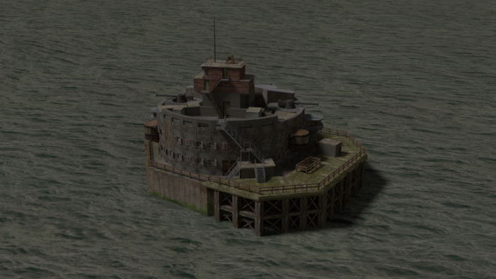 Bull Sand Fort 3D model by Hannah Rice